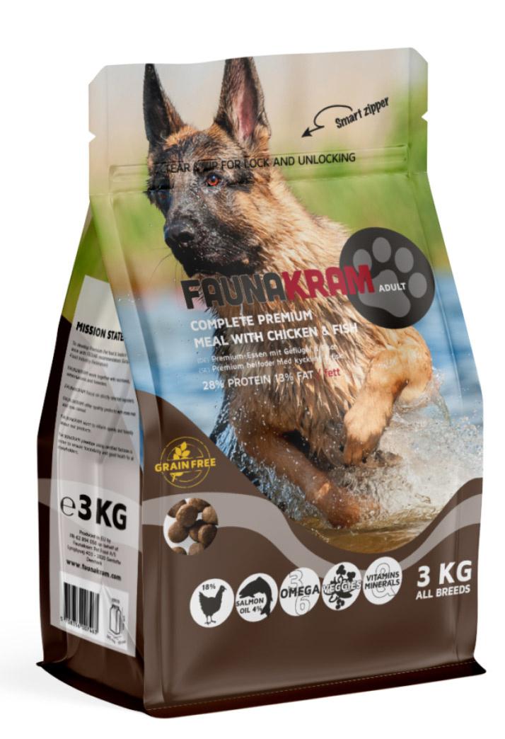 Image of   3 kg FAUNAKRAM Kornfri med kylling og laks