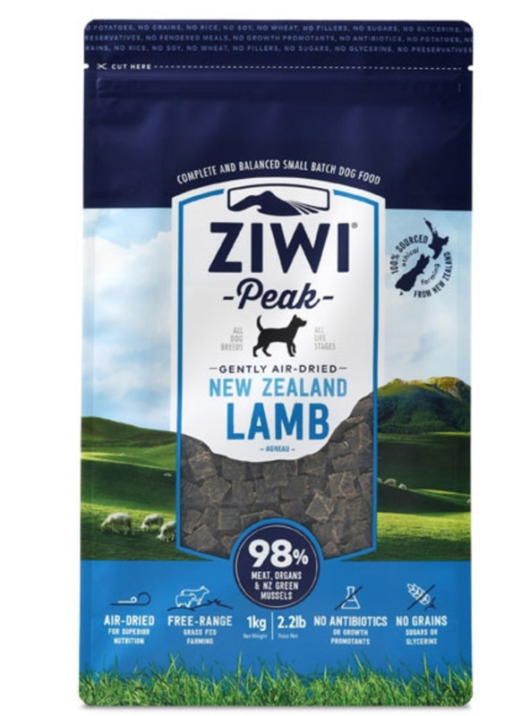 ZiwiPeak Dog - Air-dried Lamb 1 kg thumbnail