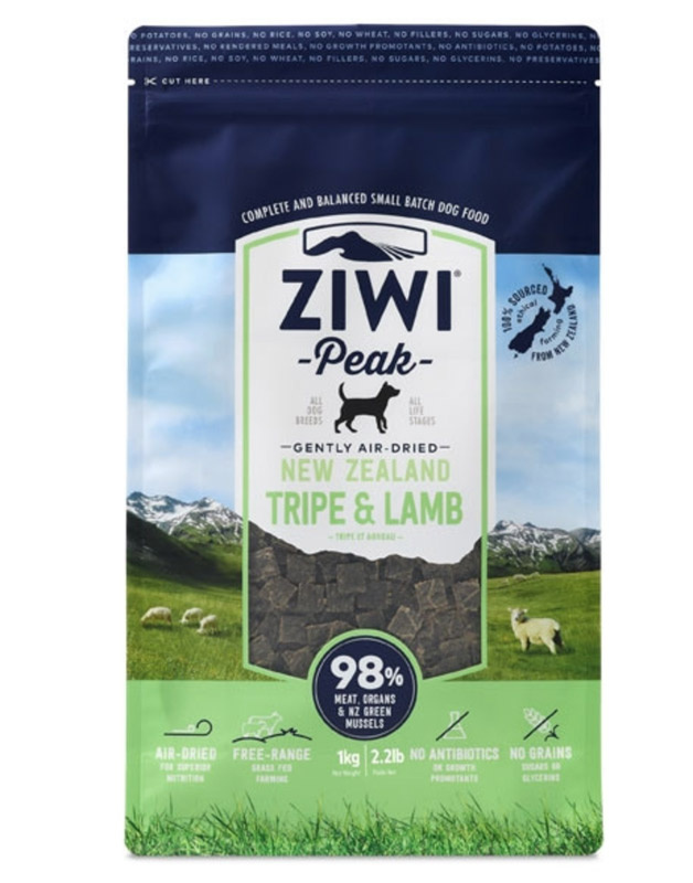 ZiwiPeak Dog - Air-dried Tripe & Lamb 1 kg thumbnail
