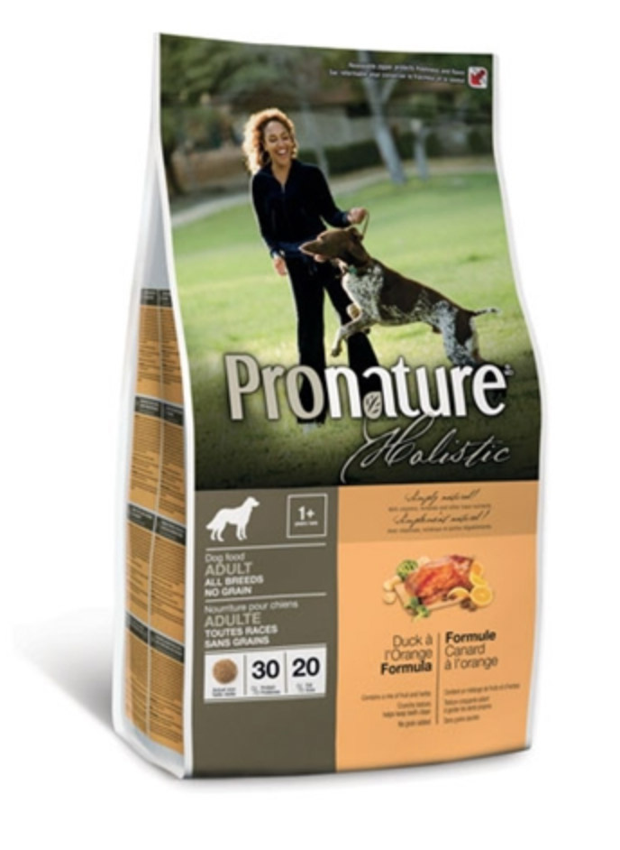 Pronature Holistic Dog - Duck à l'Orange Adult KORNFRI 13,6 kg thumbnail