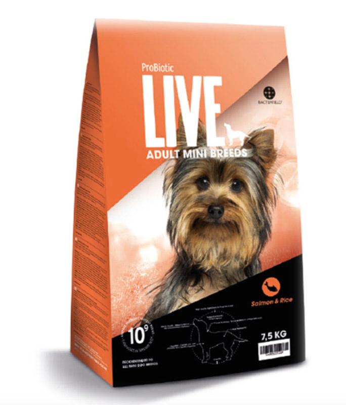 Probiotic Live Adult MINI BREEDS Laks & ris - 7,5 kg thumbnail