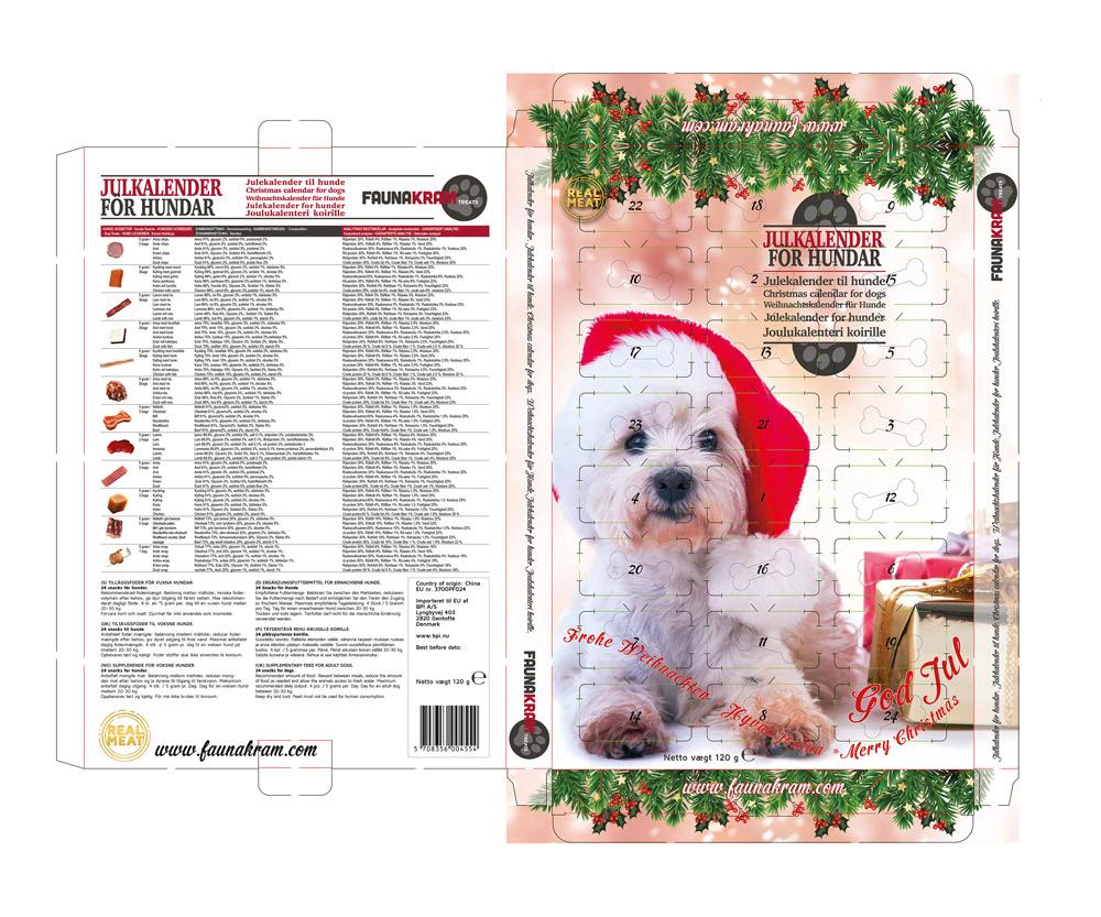 Luksus real meat julekalender til hunde, 120 g - Glutenfri thumbnail