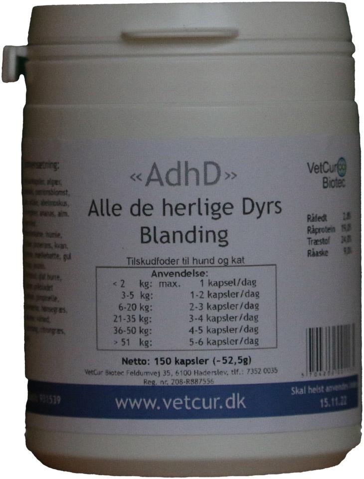 Image of   AdhD, 150 kapsler til hund og kat