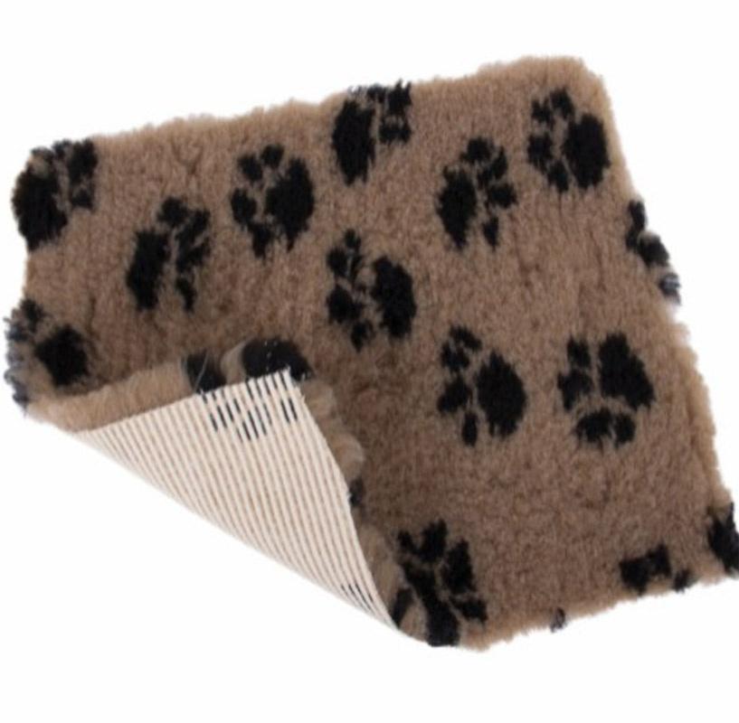 Vet Bed tæppe med pote print - med gummi bagside thumbnail