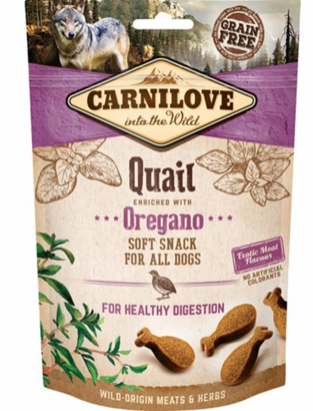 Carnilove Soft Snack Vagtel & Oregano, 200 g thumbnail