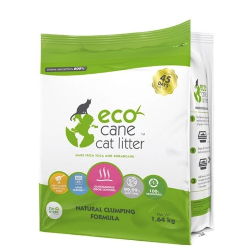 Image of   100% naturlig Eco Cane Cat Litter, 5,8 liter - 100% naturprodukt