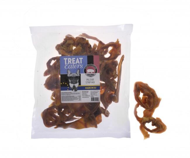 GRISEØRER - Treateaters Pig Ears Strip Mix - XL Pose, 450 g - dato 2.1.21 thumbnail