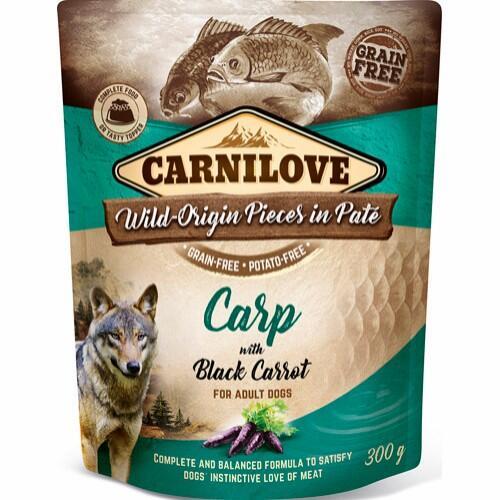 Carnilove Pouch Pate Carp with Black Carrot - kornfri, 300 g thumbnail