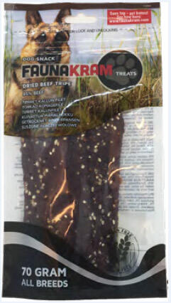 Faunakram Dog Snack, 70 g oksefilet, 85% real meat - GLUTENFRI thumbnail