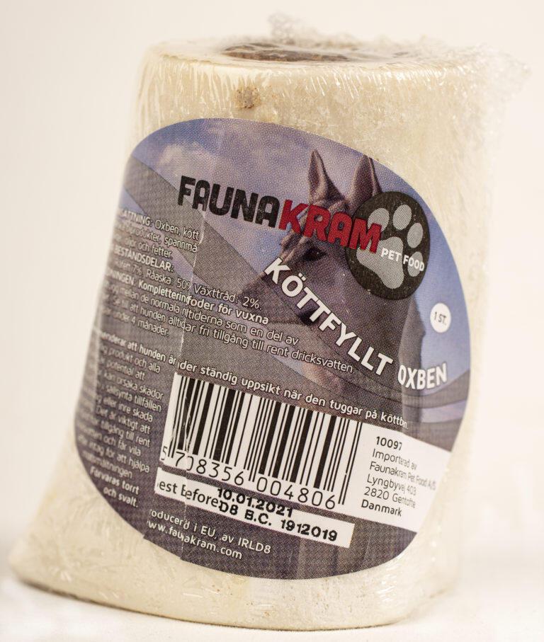 Faunakram, 1 stk. oksekødben med fyld thumbnail