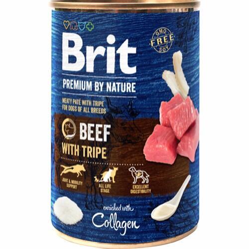 Brit Premium By Nature Beef W/Tripes, 400 g