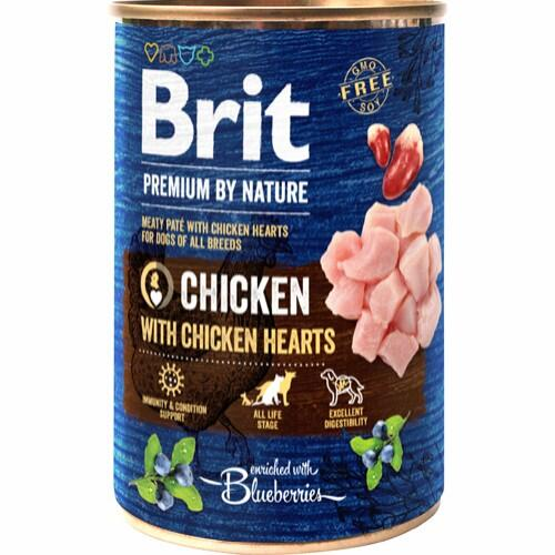 Brit Premium by Nature Chicken with Hearts, 400 g
