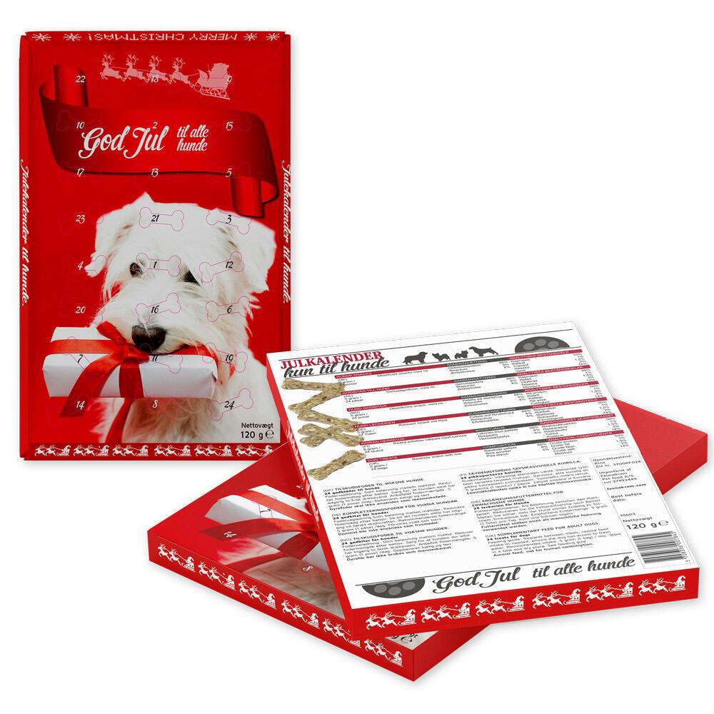 Faunakram Glutenfri Julekalender med Rawhide til Hunde - 120 g