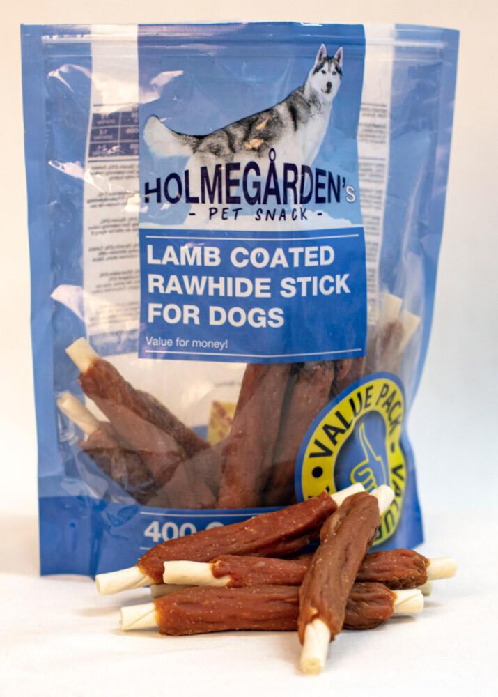 Holmegården kornfri, 400 g Lam coat rawhidewstick